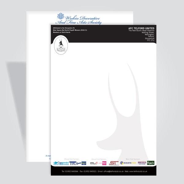 Letterheads Telford Reprographics Ltd