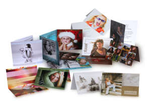 selection of personalised company christmas cards