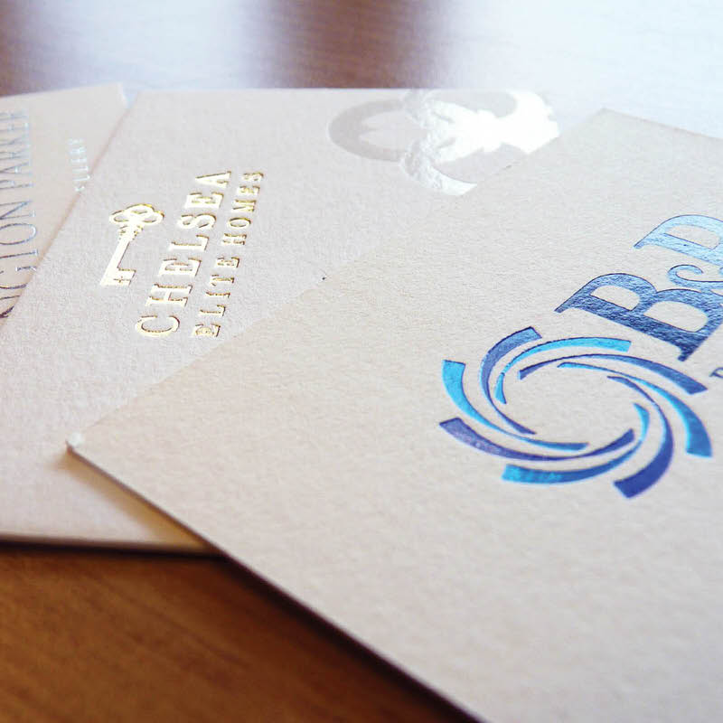 Foiled Business Cards - Telford Reprographics Ltd